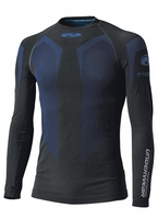 Fit/features  temperature regulating: cool in summer maximum breathability knitted with 3D seamless technology to clothe without restriction antibacterial & deodorising effect by SILVERPLUS® Outer shell  Held-Stretch fibre Colors  black-blue 15
