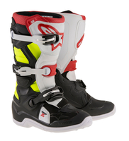 Alpinestars Tech 7S Junior - Svart / Vit / Röd / Fluo
