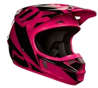 Fox Junior V1 Race Helmet Rosa