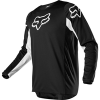 Crosströja Junior Fox 180 PRIX Jersey BLACK/WHITE