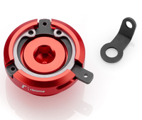 Rizoma Engine Oil Filler Cap for Yamaha, color Red, dim. M26x3