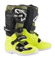 Crosstövel Junior Alpinestars Tech 7S Fluogul/Militärgrön