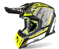 Crosshjälm Airoh Aviator 2.3 AMSS Glow Chrome Yellow