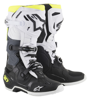 Crosstövel Alpinestars Tech 10 Svart/Vit/Fluogul