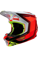 FOX V2 VOKE HELMET WHITE ORANGE