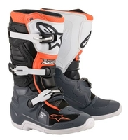 Crosstövel Junior Alpinestars Tech 7S Svart/Grå/Vit/Orange