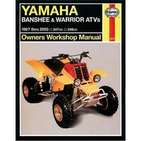 Reparationsmanual HAYNES Yamaha Banshee and Warrior ATVs 87-03.
