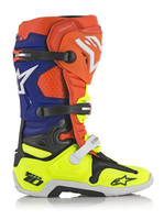 Alpinestars Tech 10 Fluo Orange/Gul/Vit/Blå