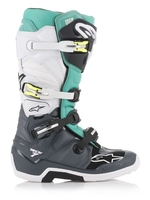 Crosstövel Alpinestars Tech 7 Svart/Vit/Teal