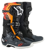 Crosstövel Alpinestars Tech 10  Svart/Grå/Orange/Röd